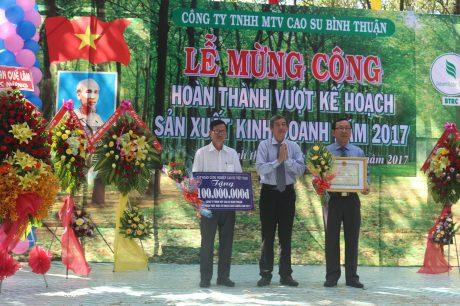 Doanh thu Cao su Bình Thuận năm 2017 ước đạt 540 tỷ đồng